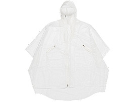 Front Top view of PONCHO, REAL WHITE
