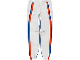 Front Top view of TRACK PANT, REAL WHITE