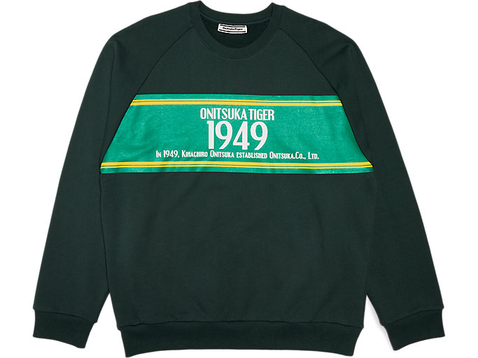 Front Top view of SWEAT TOP, MANTLE GREEN