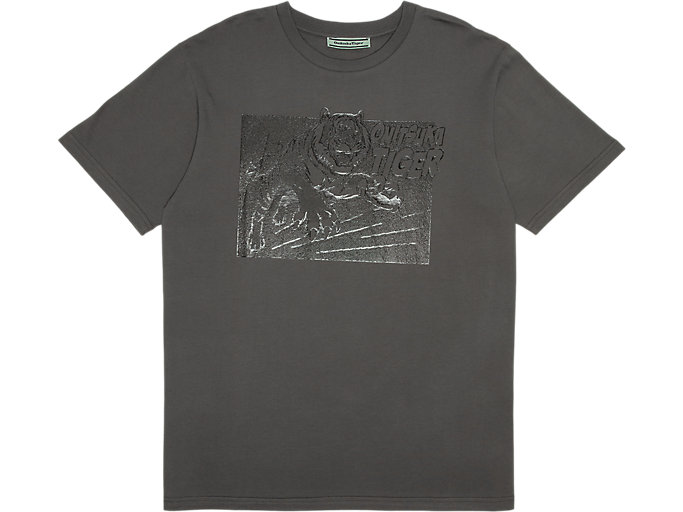 Front Top view of GRAPHIC TEE, FEATHER GREY