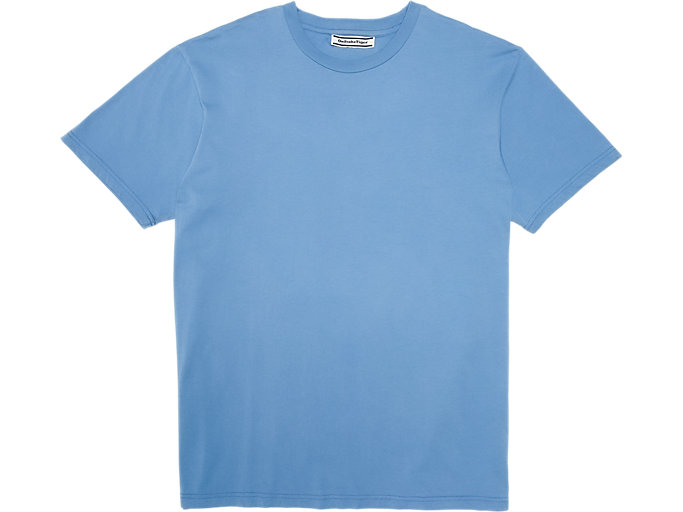 Front Top view of Washed Graphic T-Shirt, ELECTRIC BLUE