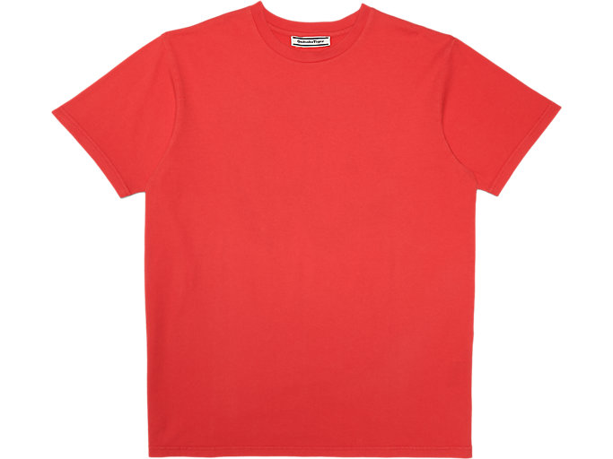 Front Top view of Washed Graphic T-Shirt, FIERY RED