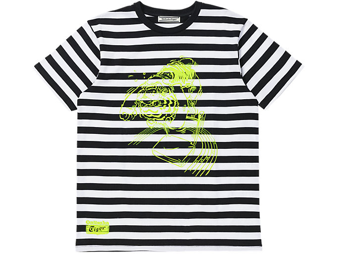 Front Top view of Grafik T-Shirt, PERFORMANCE BLACK/SAFETY YELLOW
