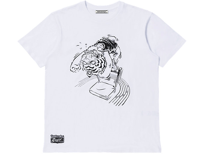 Front Top view of Camiseta Con Dibujo, REAL WHITE/PERFORMANCE BLACK