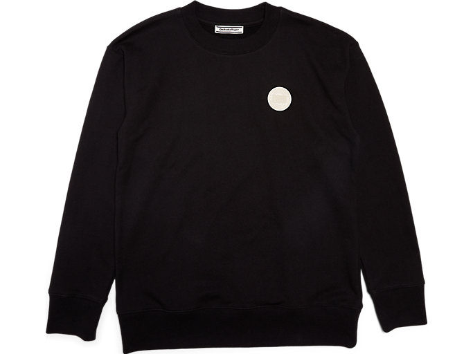 Front Top view of Haut Sweat, PERFORMANCE BLACK
