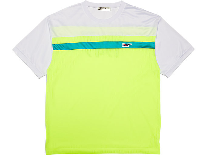 Front Top view of T-Shirt, SAFETY YELLOW