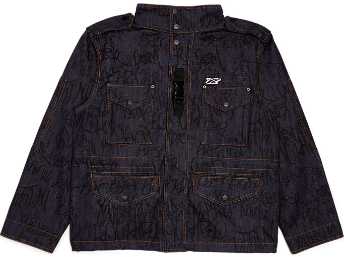 Front Top view of PT DENIM  OUTER, PEACOAT/PERFORMANCE BLACK