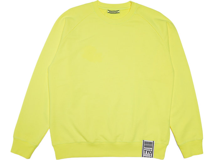 Front Top view of Sweat, SAFETY YELLOW