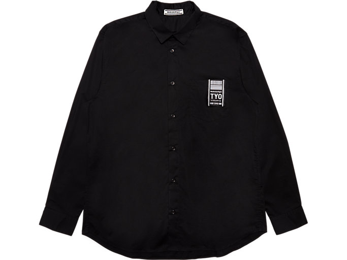 Front Top view of SHIRT, PERFORMANCE BLACK