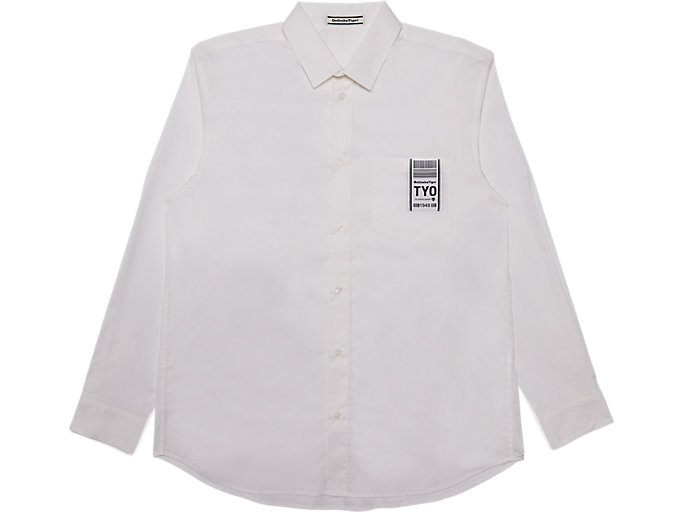 Front Top view of Shirt, REAL WHITE