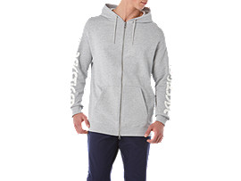 BL Sweat FZ Hoodie, MID GREY HEATHER