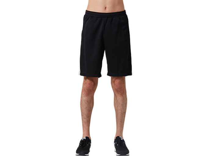 Front Top view of Leichte Jersey-Shorts, PERFORMANCE BLACK