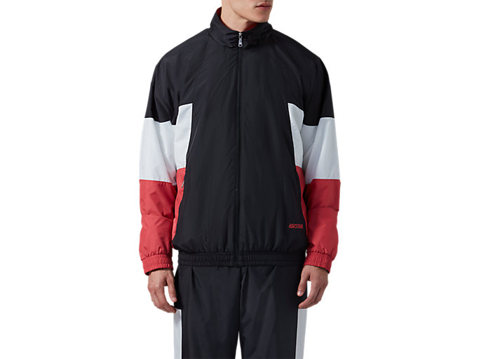 Front Top view of CBTrack Jacket, PERFORMANCE BLACK