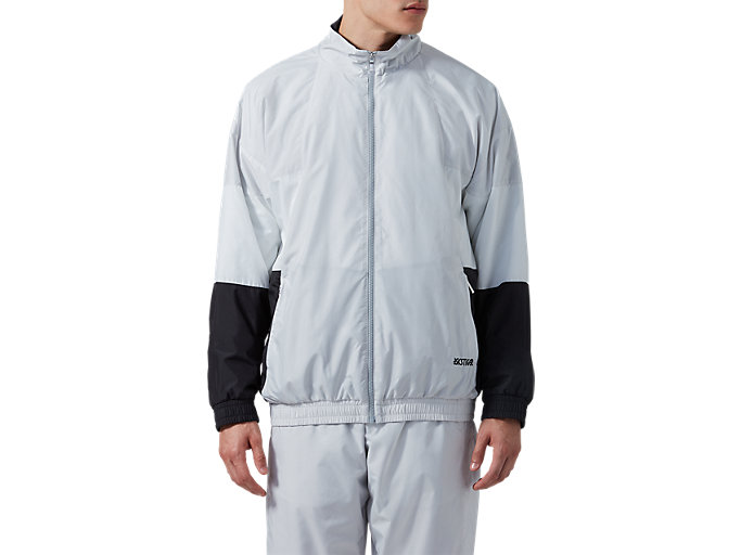 Front Top view of CB Track Jacket, GLACIER GREY