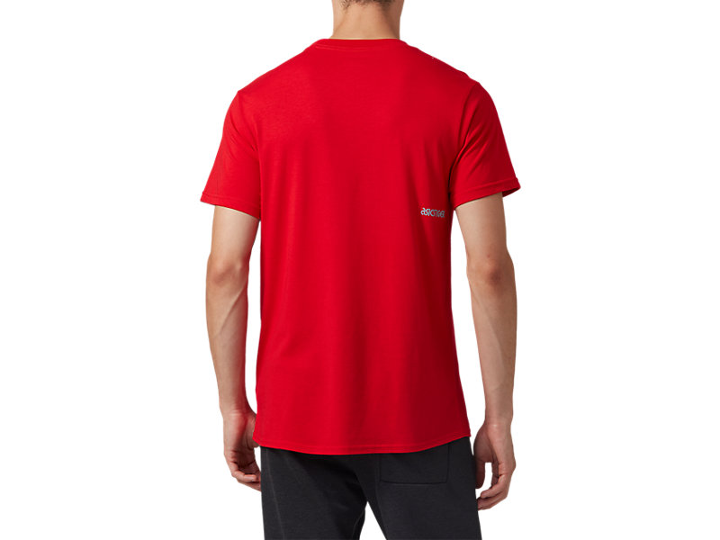 Pocket Short Sleeve Tee CLASSIC RED 5 BK