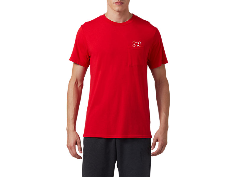 Pocket Short Sleeve Tee CLASSIC RED 1 FT