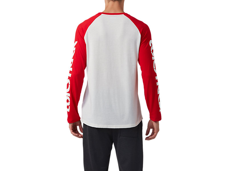 Baselayer Long Sleeve Tee Cream / Classic Red 5 BK