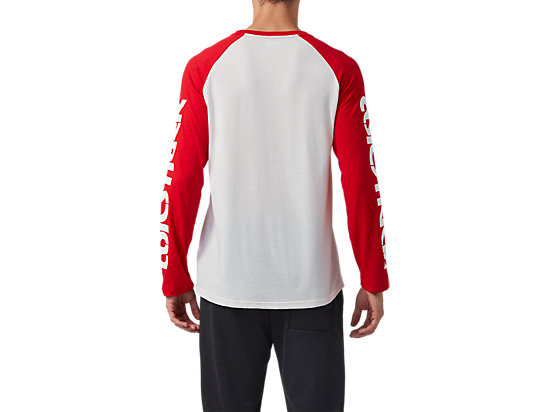 BL LONG SLEEVE TEE CREAM / CLASSIC RED