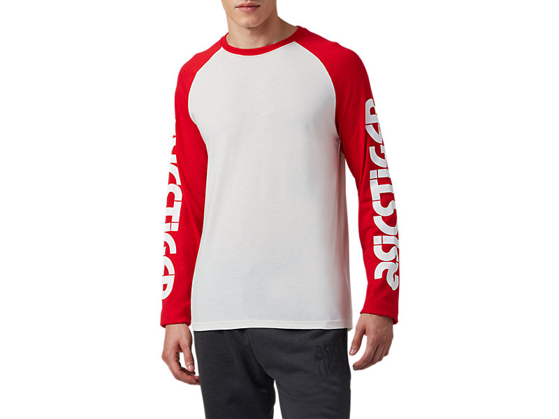 Baselayer Long Sleeve Tee Cream / Classic Red 1 FT