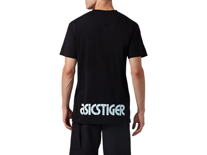 Back view of DT GRAPHIC TEE, PERFORMANCE BLACK