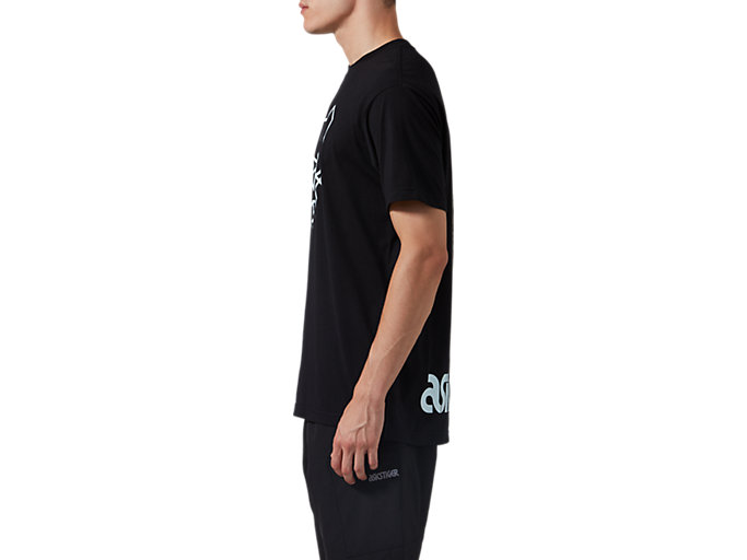 Side view of DT GRAPHIC TEE, PERFORMANCE BLACK