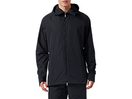 Front Top view of Commuter Jacket, PERFORMANCE BLACK