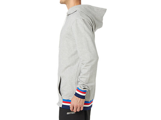 Logo Sweat FZ Hoodie MID GREY HEATHER