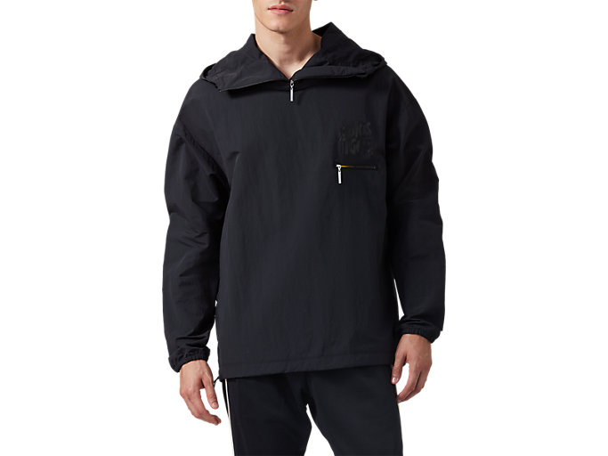 Front Top view of Wind Breaker PO, PERFORMANCE BLACK