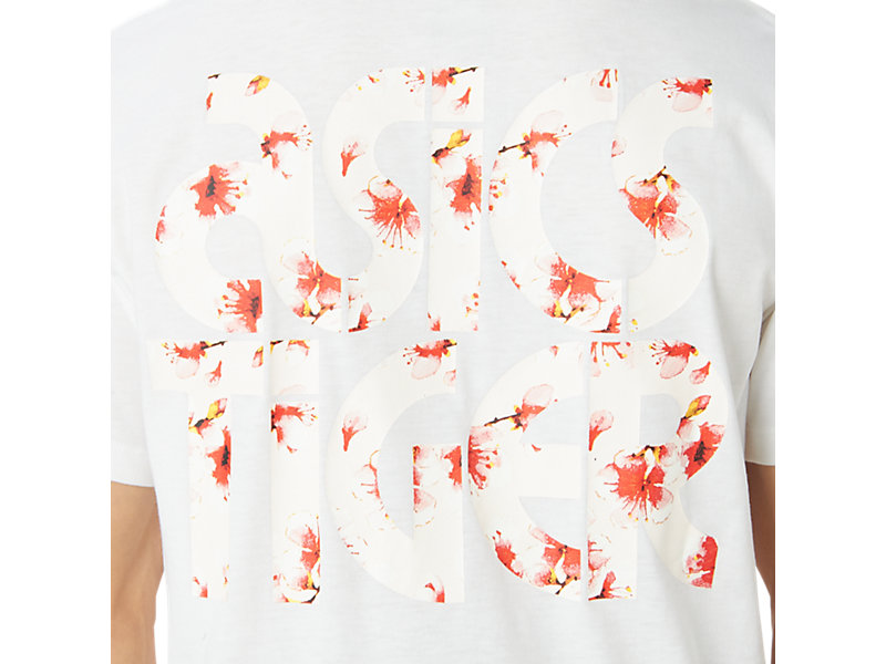 Cherry Blossom Graphic Short Sleeve Tee Real White 29 Z