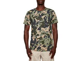 Front Top view of Camo All Over Print Tee