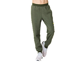 Front Top view of One Point Sweat Pants, MANTLE GREEN  HEATHER