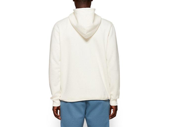 Back view of Fleece Pull Over Hoodie, CREAM