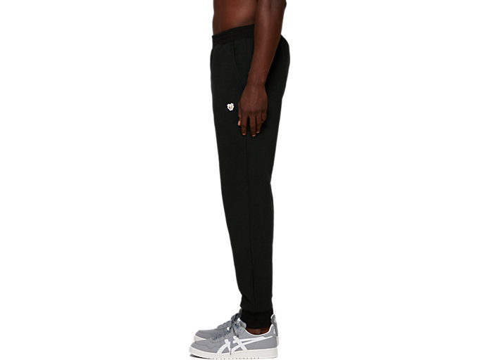 Side view of Fleece Pants, PERFORMANCE BLACK