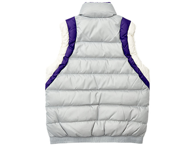 Back view of Down Vest, MID GREY