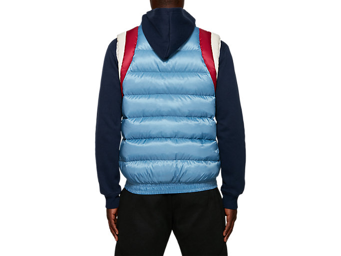 Back view of Down Vest, GRAY FLOSS