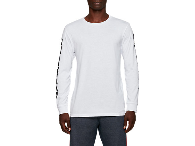 Front Top view of AHQ AT GF LS TEE, BRILLIANT WHITE