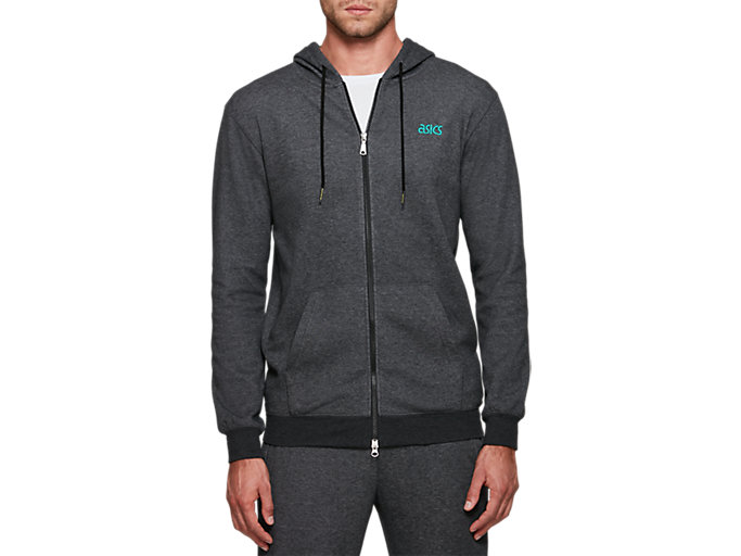 Front Top view of One Point Sweat Full Zip Hoodie
