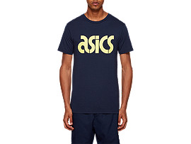 Front Top view of AHQ AT Graphic SS TEE, MIDNIGHT