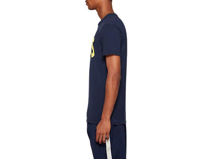 Side view of AHQ AT Graphic SS TEE, MIDNIGHT