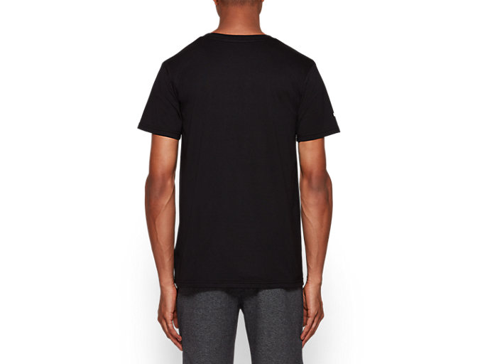 Back view of Graphic Short Sleeve Tee 1, PERFORMANCE BLACK
