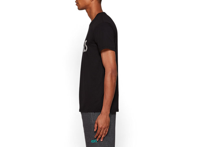 Side view of Graphic Short Sleeve Tee 1, PERFORMANCE BLACK