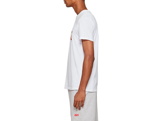Side view of Graphic Short Sleeve Tee 1, BRILLIANT WHITE