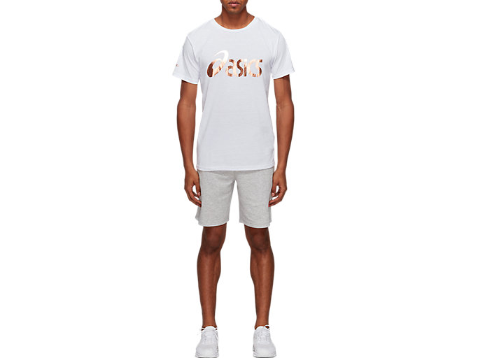Front Top view of Graphic Short Sleeve Tee 1, BRILLIANT WHITE