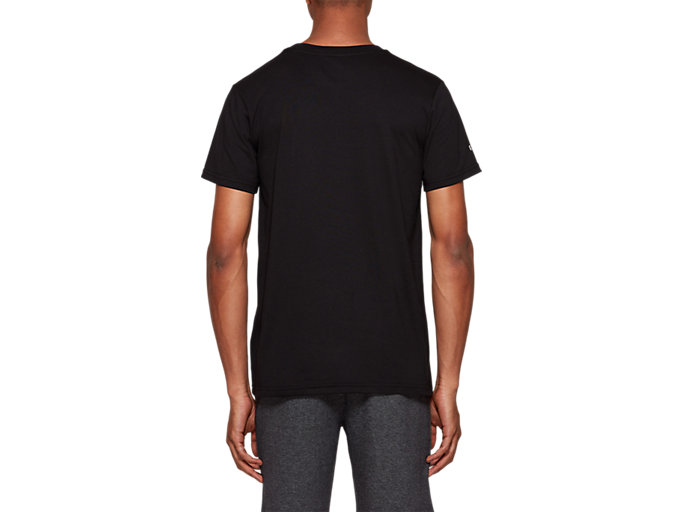 Back view of Graphic Short Sleeve Tee 2, PERFORMANCE BLACK