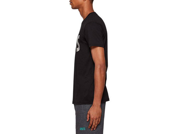 Side view of Graphic Short Sleeve Tee 2, PERFORMANCE BLACK