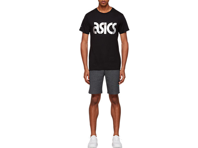Front Top view of Graphic Short Sleeve Tee 2, PERFORMANCE BLACK