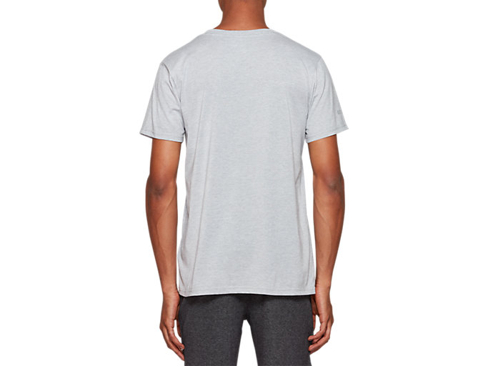 Back view of Graphic Short Sleeve Tee 2, MID GREY HEATHER