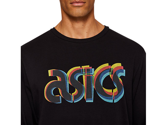 Alternative image view of FT BL GRAPHIC LS CREW, PERFORMANCE BLACK