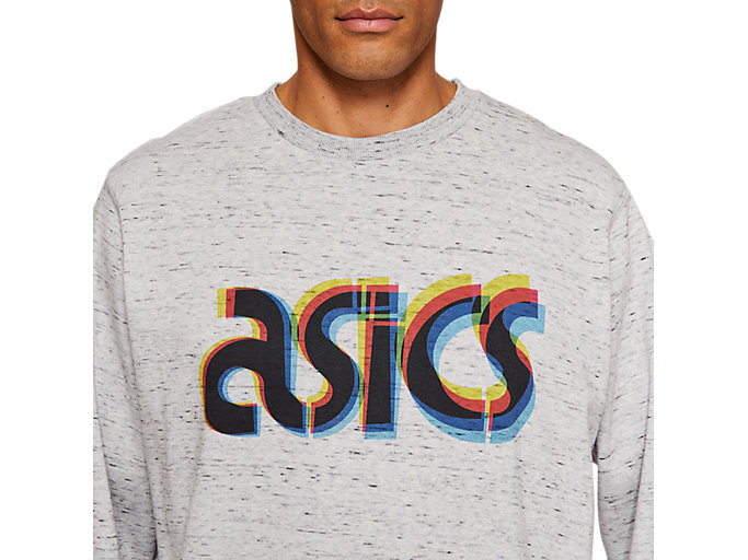 Alternative image view of FT BL GRAPHIC LS CREW, PIEDMONT GREY HEATHER
