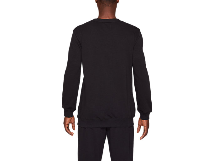 Back view of FT OP LS CREW, PERFORMANCE BLACK